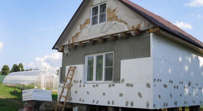 Пенопласт поможет сделать дом теплым
