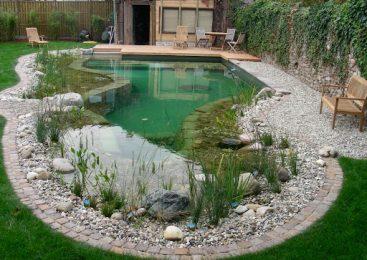 Использование камней для оформления и декорирования водоема