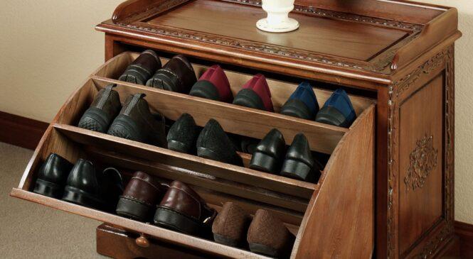 Плюсы кассетных тумб для обуви
